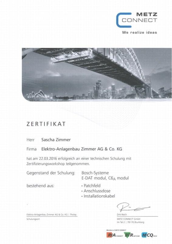 Metz - Connect - Bosch Systeme